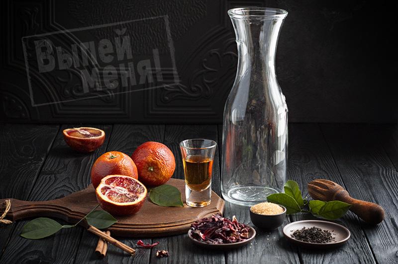 глинтвейн с коньяком и соком красного апельсина
