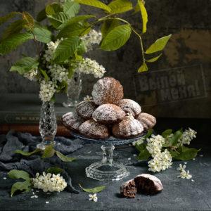 Черёмуховые кексы с ромом