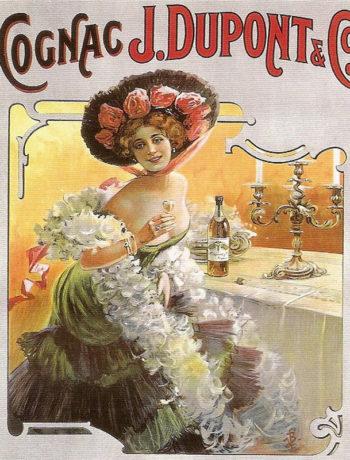 коньяк, старый плакат