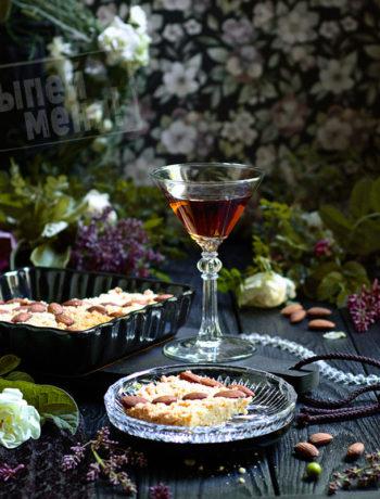 миндальный пирог с ликером амаретто