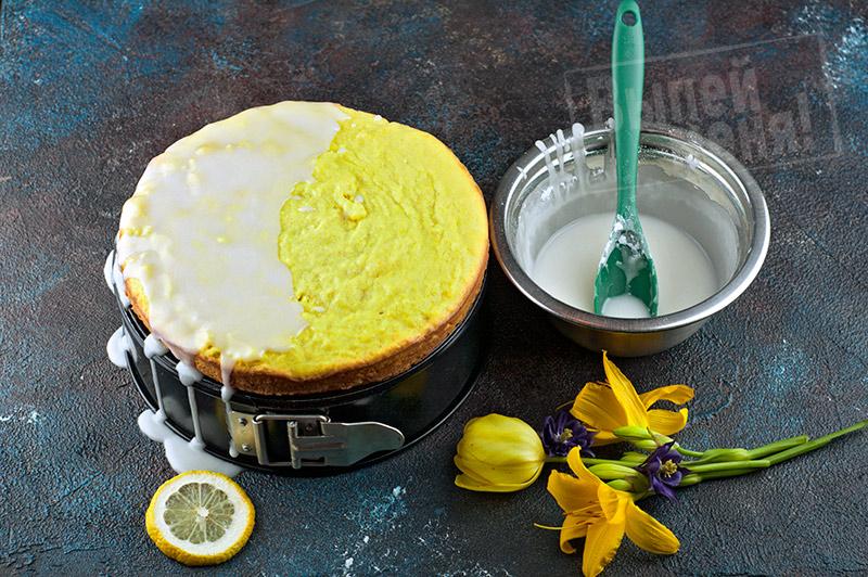 Лимонный блонди с ликёром «Лимончелло»