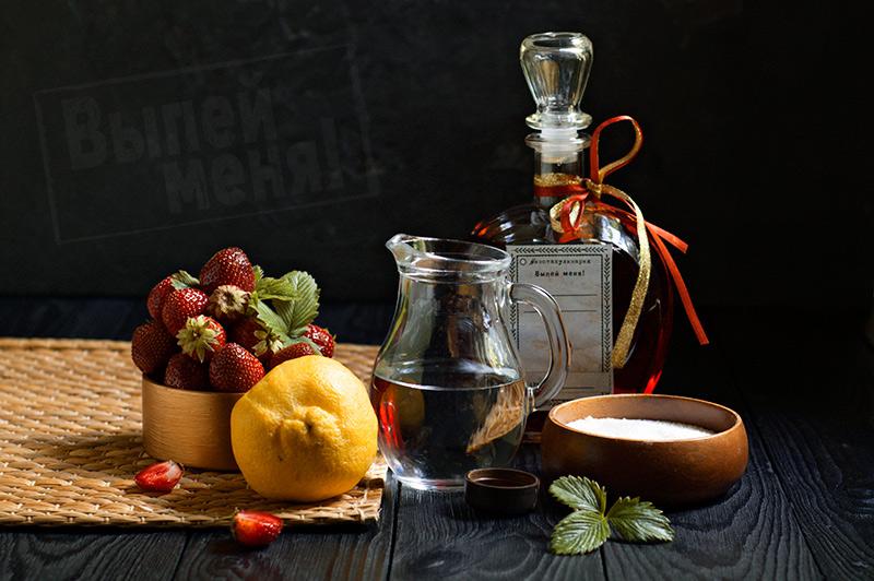ингредиенты клубничного сорбета с ликером
