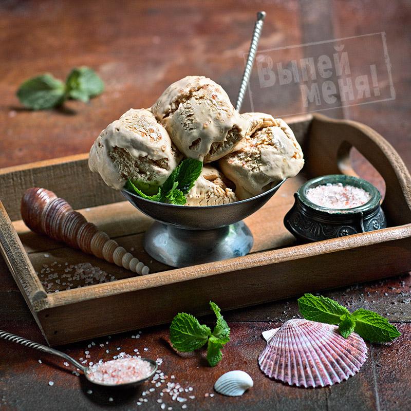 соленое мороженое с ликером бейлис