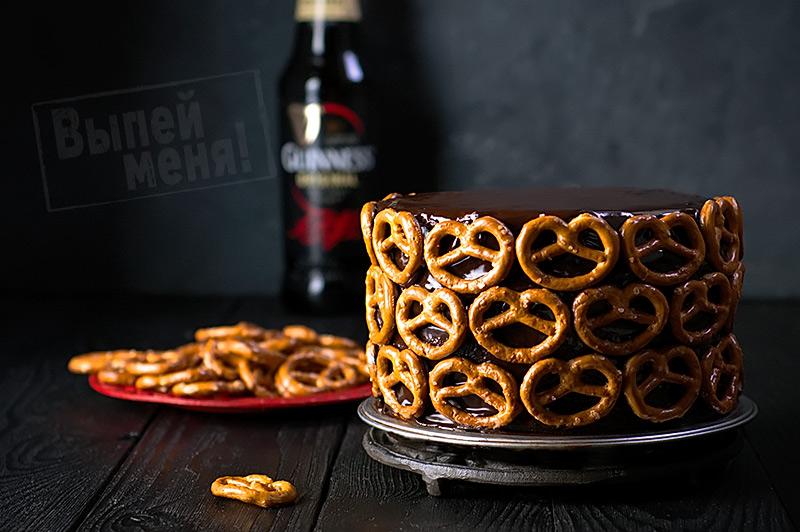 Шоколадный торт с пивом «Гиннес»