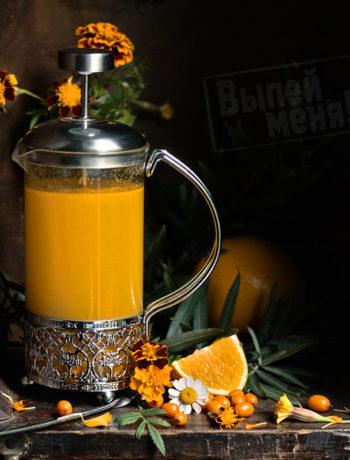 Облепиховый чай с ликёром «Оранчелло»
