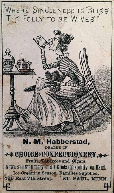 В Англии 19 века джин считался дамским напитком