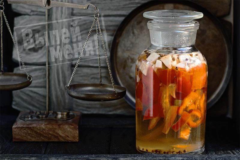 перцовая настойка с сельдереем и кориандром, рецепт перцовки