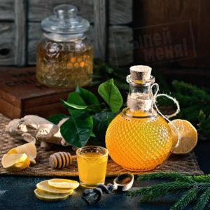 Имбирная настойка с мёдом и лимоном