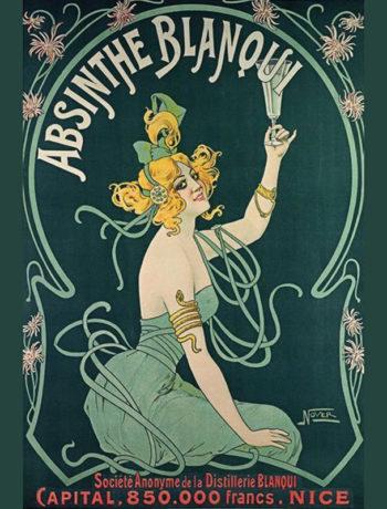 Абсент. Старинный плакат