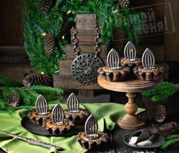 шоколадные тарталетки с соленой карамелью и ромом, рецепт