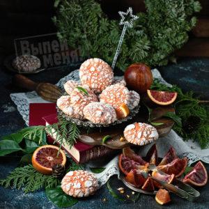 печенье с трещинками и ликером оранчелло
