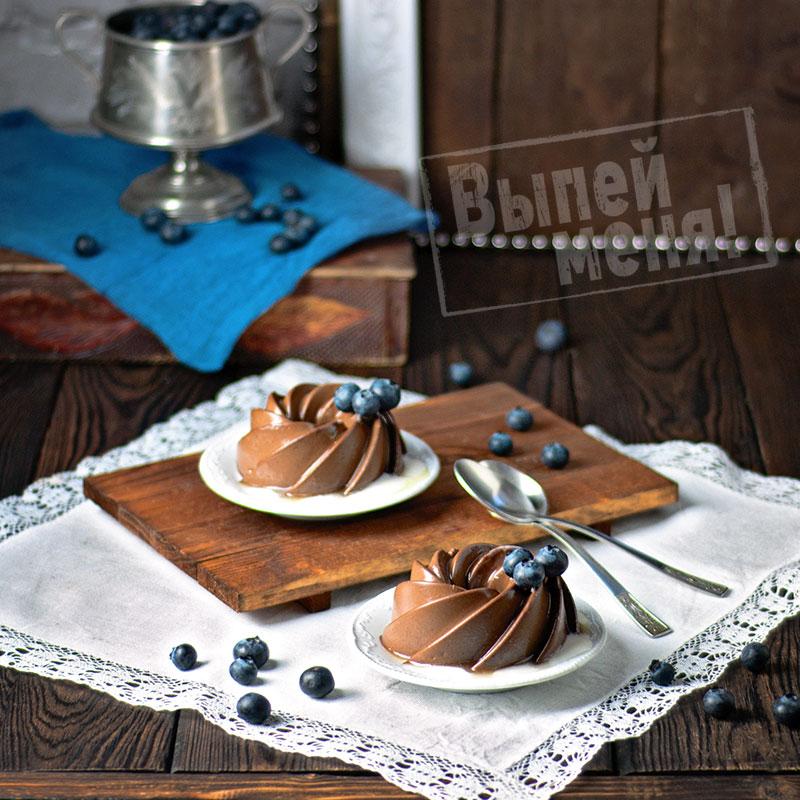 шоколадное желе с ликером
