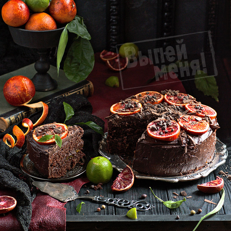 шоколадный торт с апельсиновым ликером