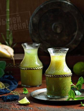 лимонад с чаем матча и лимончелло