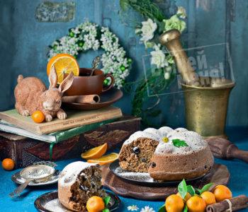 постный кекс с коньяком, рецепт