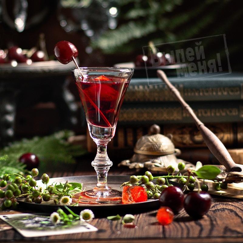 """Вишневый коктейль """"Красный русский"""", рецепт"""