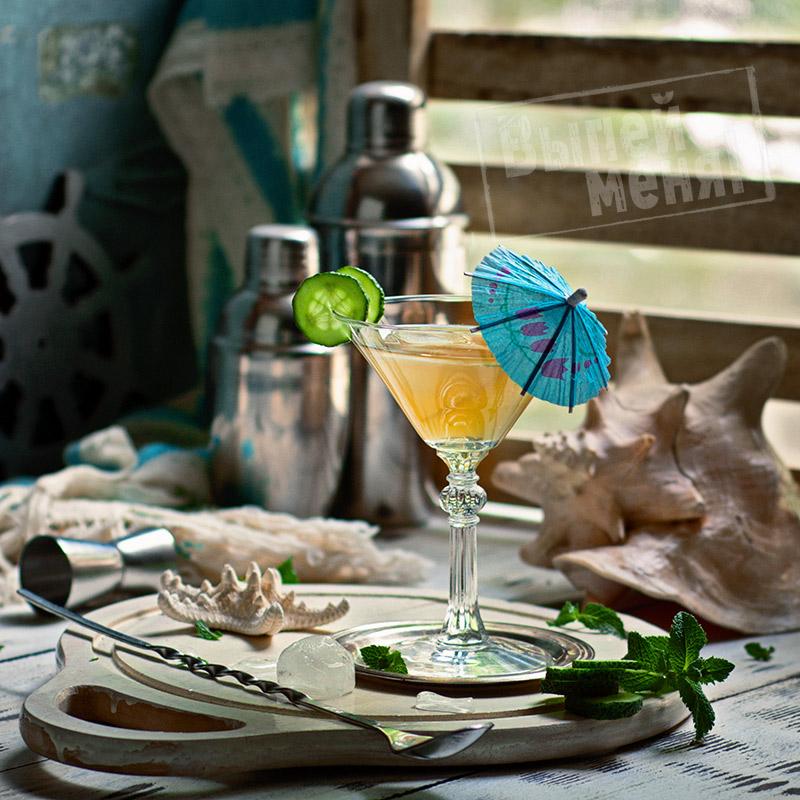 рецепт мартини с мятой и огурцом