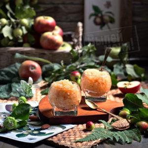 яблочный десерт гратен с ликером, рецепт