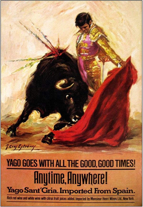 сангрия, рекламный плакат