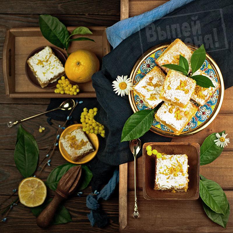 лимонный тарт с ликером лимончелло, рецепт