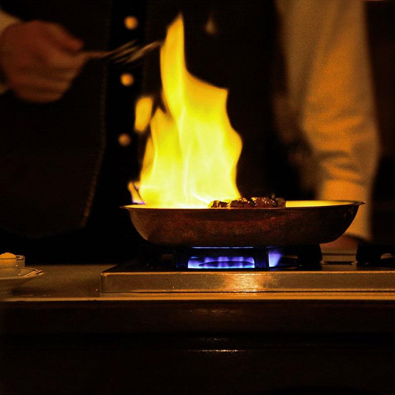 фламбе, фламбирование блюд, как правильно делать