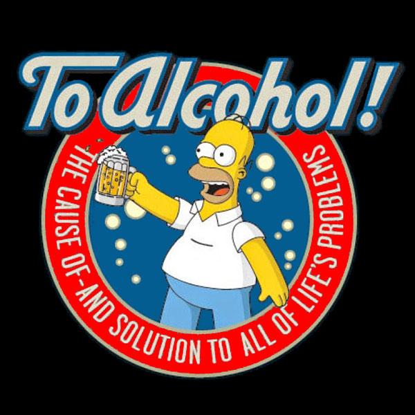 симпсоны за алкоголь причину и решение всех проблем в жизни
