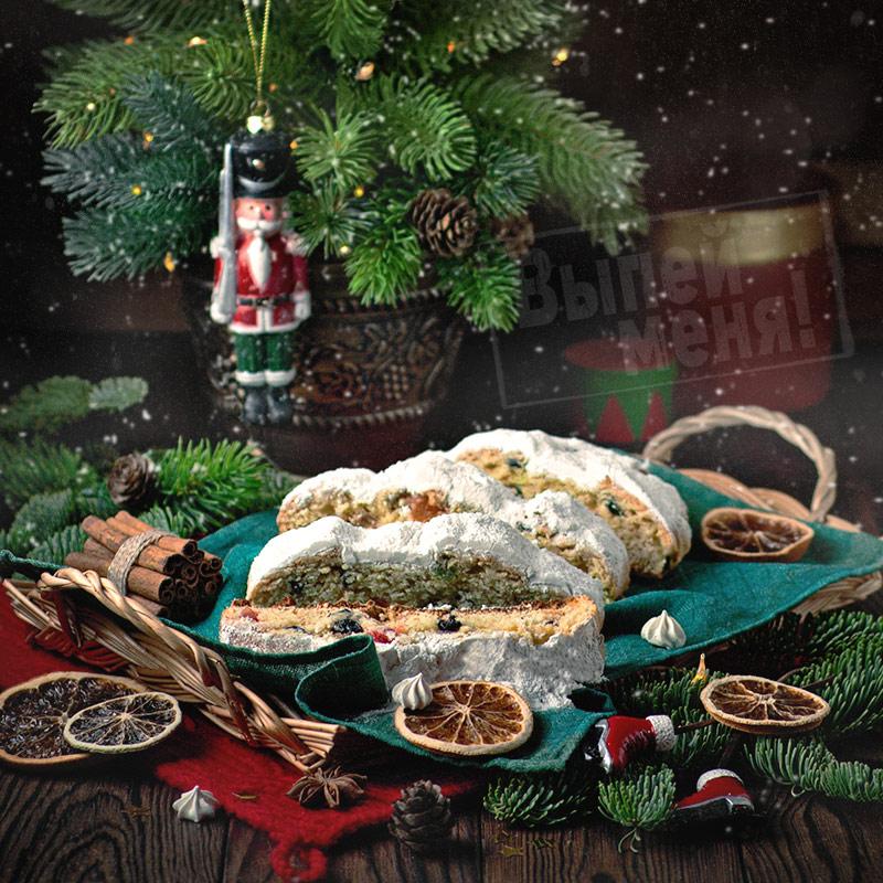 рецепт рождественского хлеба штоллен