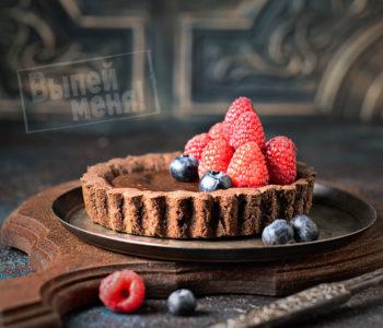 шоколадный тарт с ромом